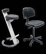 Ergonomic seat and standing seat