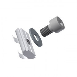 M5 T-slot nut with spring and screws for aluminium extrusion profile mounting
